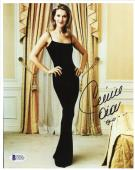 "Celine Dion Autographed 8""x 10"" Wearing all Black Dress Photograph - Beckett COA"