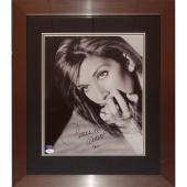 Celine Dion Autographed Concert Deluxe Framed 11×15 Poster – JSA