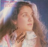 Celine Dion Autographed Les Chemins De Ma Maison Album Cover With Love Inscription - PSA/DNA COA