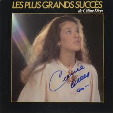Celine Dion Autographed Les Plus Grands Succes Album Cover Blue Ink - PSA/DNA COA