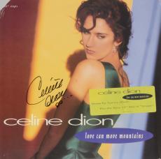 Celine Dion Autographed Love Can Move Mountains Single Album Cover - PSA/DNA COA