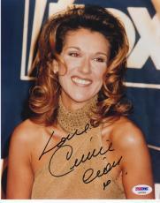 Celine Dion Signed 8x10 Photo Authentic Autograph Grammy Titanic Sexy Psa Coa A