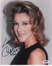 Celine Dion Signed 8x10 Photo Authentic Autograph Grammy Titanic Sexy Psa Coa B