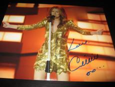CELINE DION SIGNED AUTOGRAPH 11x14 PHOTO VEGAS CONCERT PROMO IN PERSON COA NY H