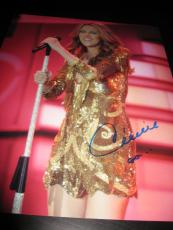 CELINE DION SIGNED AUTOGRAPH 11x14 PHOTO VEGAS CONCERT PROMO IN PERSON COA NY I