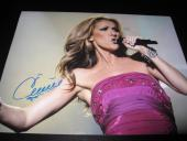 CELINE DION SIGNED AUTOGRAPH 11x14 PHOTO VEGAS CONCERT PROMO IN PERSON COA NY K