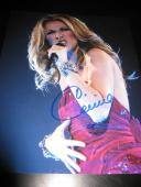 CELINE DION SIGNED AUTOGRAPH 8x10 PHOTO POWER OF LOVE VEGAS PROMO IN PERSON D