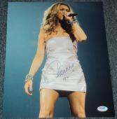 Celine Dion Signed Autograph Sexy Short Dress Stage 11x14 Photo Psa/dna W55730