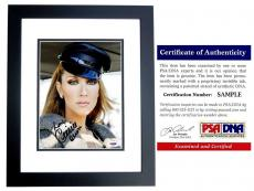 Celine Dion Signed - Autographed Singer - Songwriter 8x10 inch Photo BLACK CUSTOM FRAME - PSA/DNA Certificate of Authenticity (COA)