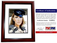 Celine Dion Signed - Autographed Singer - Songwriter 8x10 inch Photo MAHOGANY CUSTOM FRAME - PSA/DNA Certificate of Authenticity (COA)