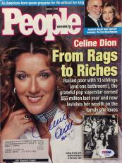 Celine Dion Signed 'People Weekly' Magazine *French Canadian Singer* PSA