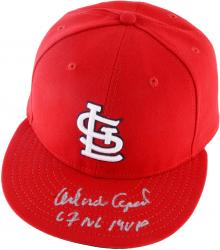 Autographed Orlando Cepeda St. Louis Cardinals Hat - 67 NL MVP