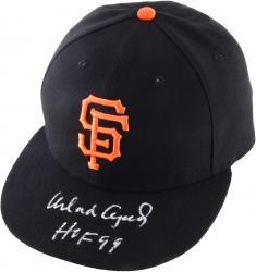 Orlando Cepeda San Francisco Giants Autographed New Era Cap with HOF 99 Inscription