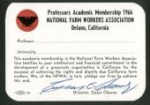 Cesar Chavez Signed Autographed 1966 Membership Card Beckett BAS
