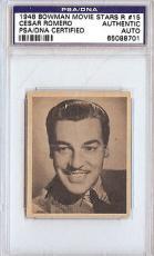 Cesar Romero Autographed Signed 1948 Bowman Card PSA/DNA #65088701