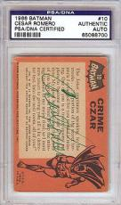 Cesar Romero Autographed Signed 1966 Batman Card PSA/DNA #65088700