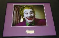 Cesar Romero The Joker Batman Signed Framed 16x20 Photo Display JSA B