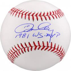 Ron Cey Autographed Baseball - 81 WS MVP