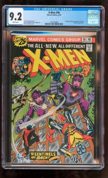 Cgc 9.2 X-men #98 Marvel 1976 Jack Kirby Stan Lee *super Rare High Grade Book*