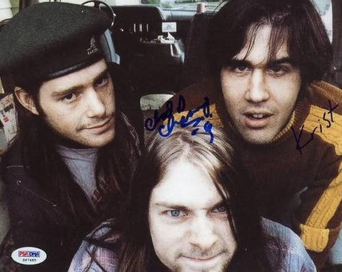 Chad Channing & Krist Novoselic Nirvana Signed 8X10 Photo PSA #S67485