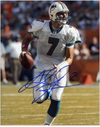 Autographed Chad Henne Picture - Miami Dolphins 8x10 Mounted Memories