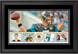 "Chad Henne Jacksonville Jaguars Framed 10"" x 18""  Panoramic with Piece of Game-Used Football - Limited Edition of 250"