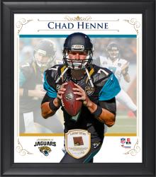 "Chad Henne Jacksonville Jaguars Framed 15"" x 17"" Composite Collage with Piece of Game-Used Football"