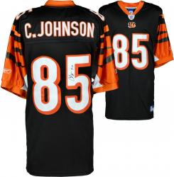 "Chad Johnson Cincinnati Bengals Autographed Black Jersey with ""7-11"" Inscription"