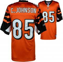 "Chad Johnson Cincinnati Bengals Autographed Orange Jersey with ""7-11"" Inscription"