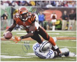 "Chad Johnson Cincinnati Bengals Autographed 16"" x 20"" vs Dallas Cowboys Photograph"