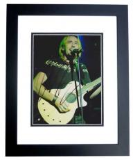 Chad Kroeger Autographed NICKELBACK Concert 8x10 Photo BLACK CUSTOM FRAME