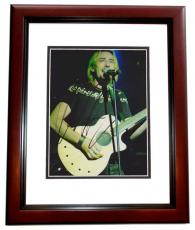 Chad Kroeger Autographed NICKELBACK Concert 8x10 Photo MAHOGANY CUSTOM FRAME