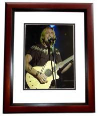 Chad Kroeger Signed - Autographed NICKELBACK Concert 8x10 Photo MAHOGANY CUSTOM FRAME