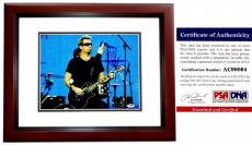 Chad Kroeger Signed - Autographed NICKELBACK 11x14 inch Photo with PSA/DNA Authenticity MAHOGANY CUSTOM FRAME