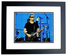 Chad Kroeger Signed - Autographed NICKELBACK Concert 11x14 Photo BLACK CUSTOM FRAME