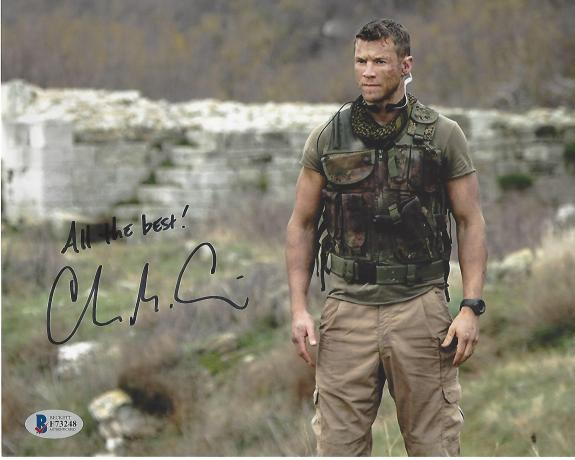 "CHAD MICHAEL COLLINS as BRANDON BECKETT in 2014 Movie ""SNIPER:LEGACY"" (BECKETT) Signed 10x8 Color Photo"