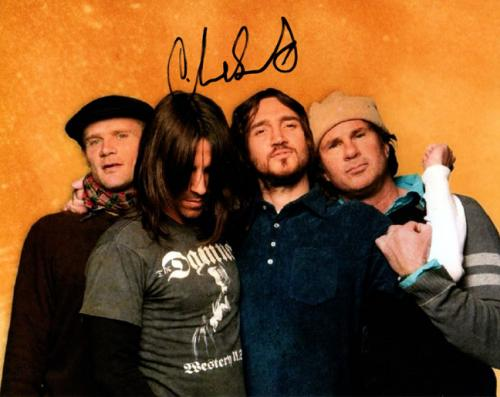 Signed Chad Smith Photo - RHCP Chili Peppers 8x10 AFTAL