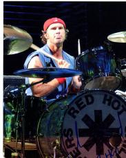 Autographed Chad Smith Photograph - RHCP Drumming 8x10 AFTAL