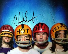 Chad (Detroit Tigers) Smith Autographed Photo - RHCP Football Helmets 8x10 AFTAL
