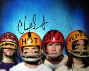 Chad Smith Autographed Photo - RHCP Helmets 8x10 AFTAL