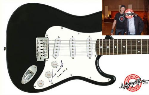 Chad Smith Autographed Signed Guitar & Proof PSA/DNA COA    AFTAL