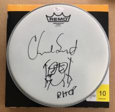 Chad Smith *RHCP* Signed Drumhead JSA COA
