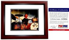 Chad Smith Signed - Autographed Red Hot Chili Peppers Drummer 8x10 inch Photo MAHOGANY CUSTOM FRAME with PSA/DNA Certificate of Authenticity (COA)