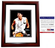 Chad Smith Signed - Autographed Red Hot Chili Peppers Drummer 8x10 inch Photo MAHOGANY CUSTOM FRAME with PSA/DNA Authenticity