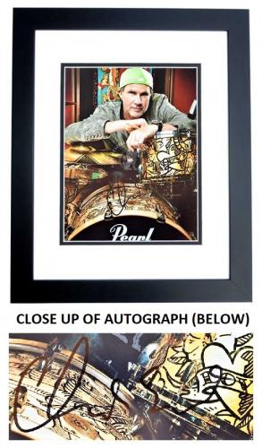Chad Smith Signed - Autographed The Foo Fighters Drummer 11x14 inch Photo BLACK CUSTOM FRAME - Guaranteed to pass PSA or JSA