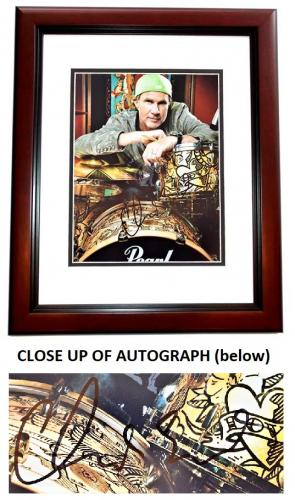 Chad Smith Signed - Autographed The Foo Fighters Drummer 11x14 inch Photo MAHOGANY CUSTOM FRAME - Guaranteed to pass PSA or JSA