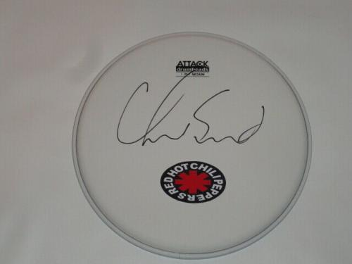 Chad Smith Signed Drumhead The Red Hot Chili Peppers Drum Head Proof