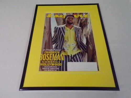 Chadwick Boseman Black Panther 11x14 Framed ORIGINAL 2018 Esquire Magazine Cover