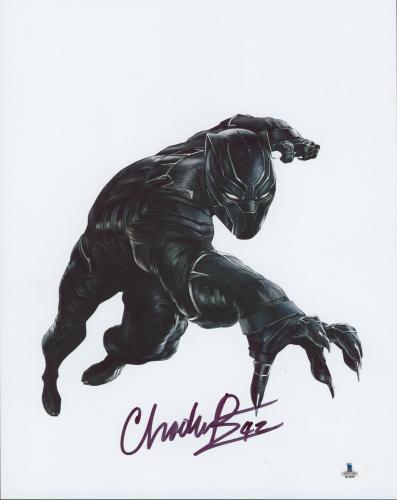 Chadwick Boseman Black Panther Signed 11x14 Photo BAS #B12036