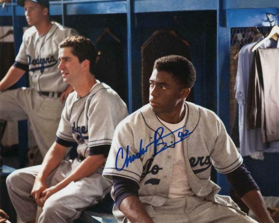 Chadwick Boseman Signed Autograph 8x10 Photo - T'challa, Black Panther, Marvel